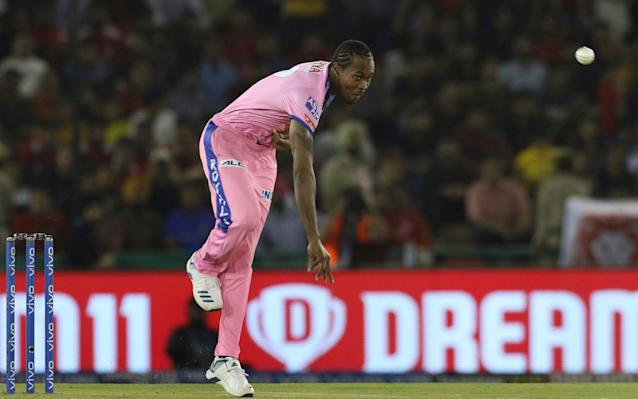 Jofra Archer representing the Rajasthan Royals in the 2019 IPL - IPL autumn move could force T20 World Cup postponement - AP
