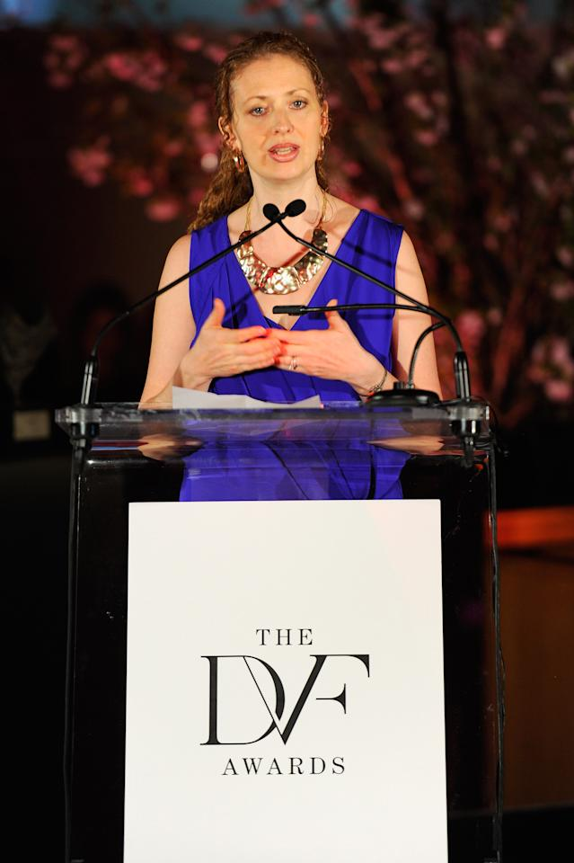 NEW YORK, NY - MARCH 09:  Layli Miller-Muro speaks onstage at the 3rd annual Diane Von Furstenberg awards at the United Nations on March 9, 2012 in New York City.  (Photo by Andrew H. Walker/Getty Images)