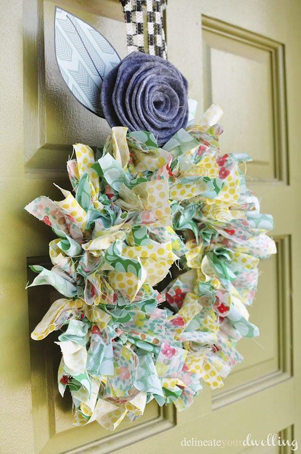 "<p>It's a snap to make this colorful, cheerful door hanger. All you need are strips of fabric you tie onto a wreath form.</p><p><strong>Get the tutorial at <a href=""https://www.delineateyourdwelling.com/summer-fabric-wreath/"" rel=""nofollow noopener"" target=""_blank"" data-ylk=""slk:Delineate Your Dwelling"" class=""link rapid-noclick-resp"">Delineate Your Dwelling</a>.</strong> </p><p><a class=""link rapid-noclick-resp"" href=""https://www.amazon.com/s?k=summer+fabric&rh=n%3A12899121&ref=nb_sb_noss&tag=syn-yahoo-20&ascsubtag=%5Bartid%7C10050.g.4395%5Bsrc%7Cyahoo-us"" rel=""nofollow noopener"" target=""_blank"" data-ylk=""slk:SHOP FABRIC"">SHOP FABRIC </a></p>"