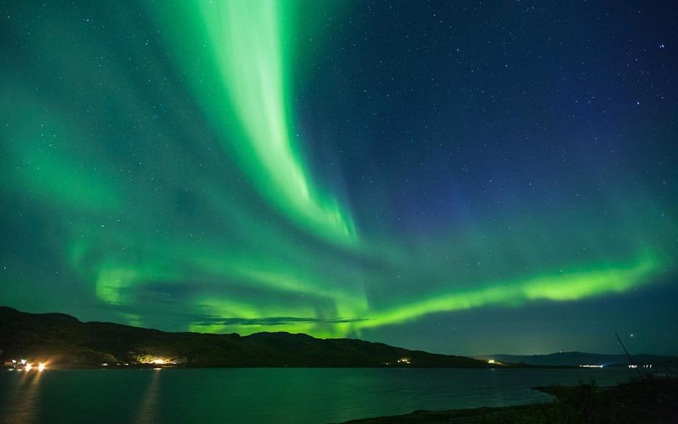 Northern lights could light up the sky above Britain tonight (Getty)