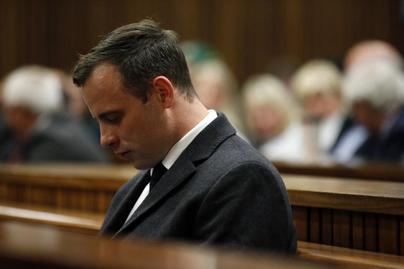 Oscar Pistorius on trial. (Reuters)