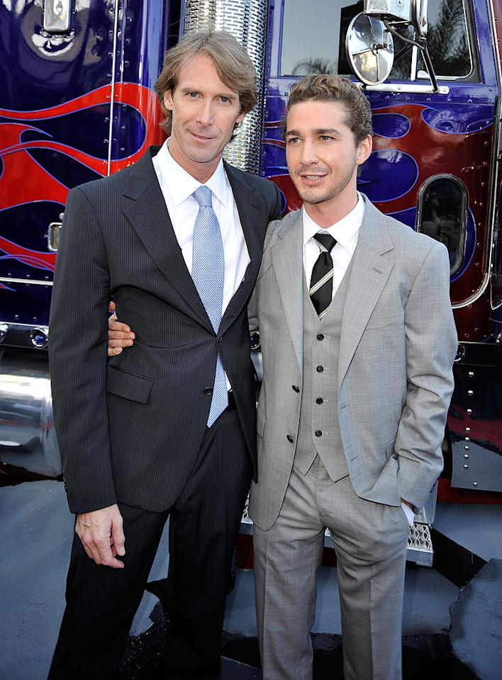 "<a href=""http://movies.yahoo.com/movie/contributor/1800020334"">Michael Bay</a> and <a href=""http://movies.yahoo.com/movie/contributor/1804503925"">Shia LaBeouf</a> at the Los Angeles premiere of <a href=""http://movies.yahoo.com/movie/1809943432/info"">Transformers: Revenge of the Fallen</a> - 06/22/2009"