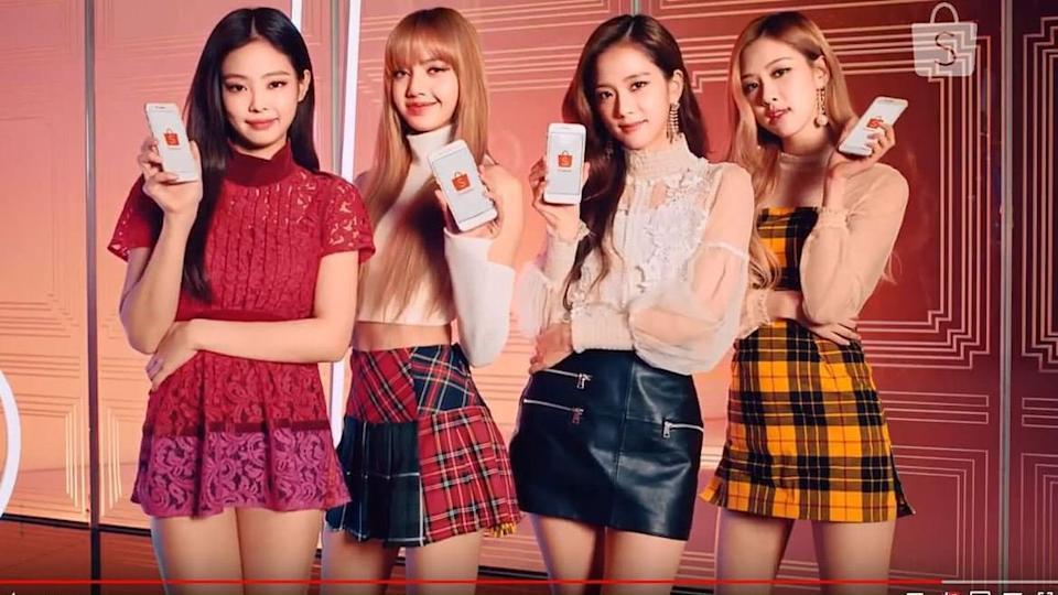 Le groupe de k-pop Blackpink - Capture d'écran Youtube