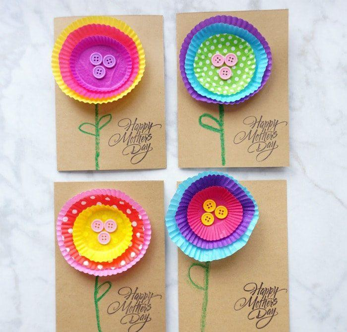 "<p>Upcycle all those old cupcake liners and loose buttons you have lying around the house into a garden that doesn't need to be watered and never wilts. This craft is super easy, even real little ones can get creative with it.</p><p><em><a href=""https://iheartcraftythings.com/simple-kid-made-mothers-day-card.html"" rel=""nofollow noopener"" target=""_blank"" data-ylk=""slk:Get the tutorial at I Heart Crafty Things »"" class=""link rapid-noclick-resp"">Get the tutorial at I Heart Crafty Things »</a></em></p>"