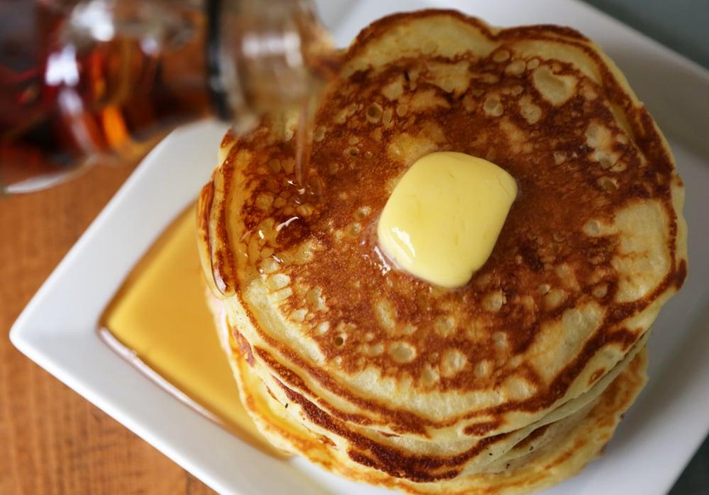 """<p>Making <a href=""""https://www.popsugar.com/food/Buttermilk-Pancake-Recipe-26947698"""" class=""""ga-track"""" data-ga-category=""""Related"""" data-ga-label=""""https://www.popsugar.com/food/Buttermilk-Pancake-Recipe-26947698"""" data-ga-action=""""In-Line Links"""">homemade pancakes</a> is just as easy as the boxed variety and infinitely more flavorful. This particular recipe has been perfected so as long as you follow the measurements and master your flipping technique, you're on your way to the best breakfast of champions.</p>"""