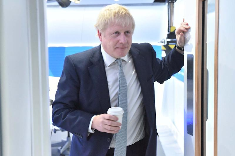 Quizzed: Mr Johnson faced questions from LBC listeners and host Nick Ferrari (Jeremy Selwyn)