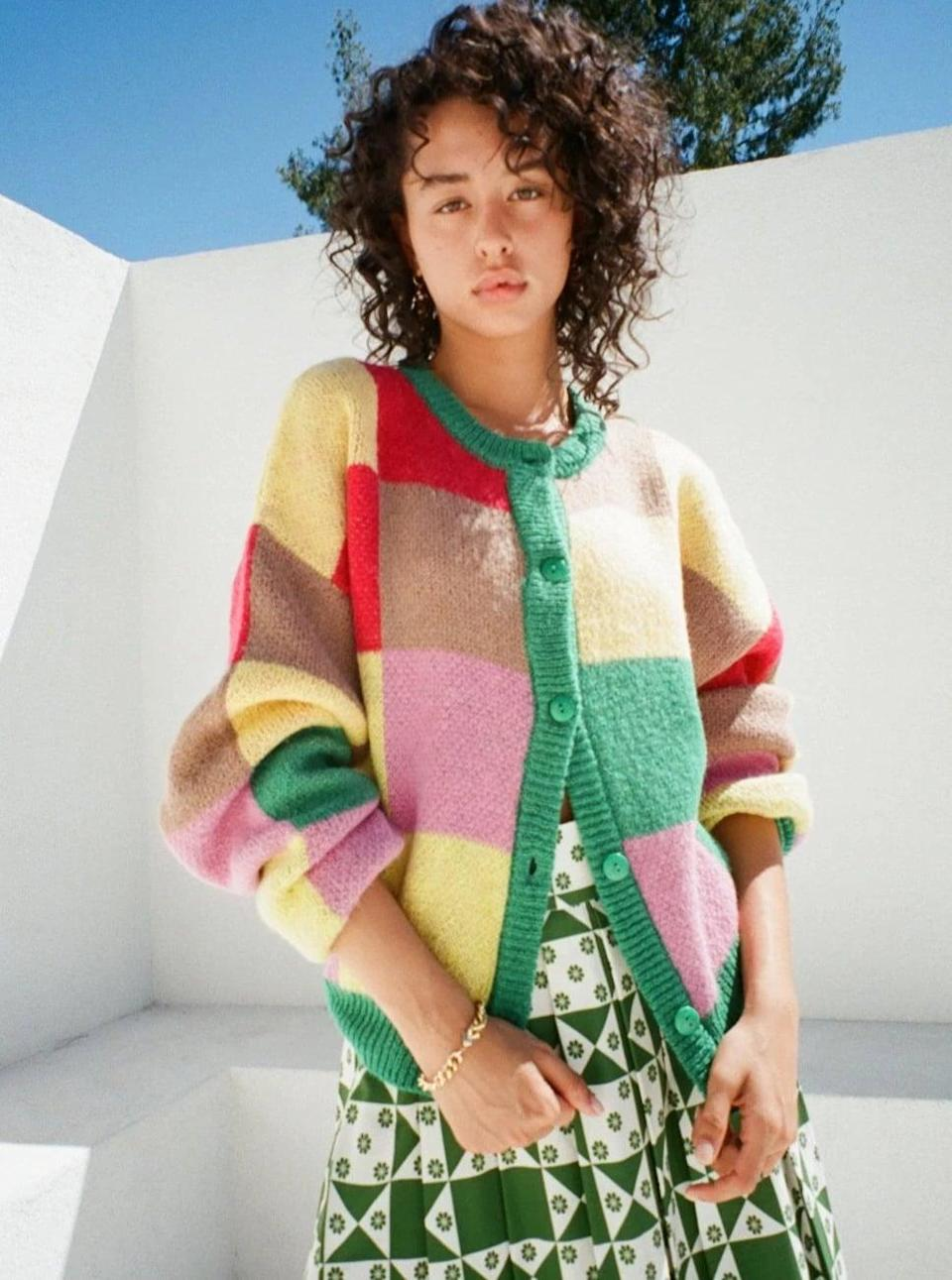 <p>This <span>Lisa Says Gah Lauda Cardi</span> ($149) will look great with a printed midi skirt (if you're feeling bold) or denim jeans to keep it the focus of the look. You'll have so much fun styling it.</p>