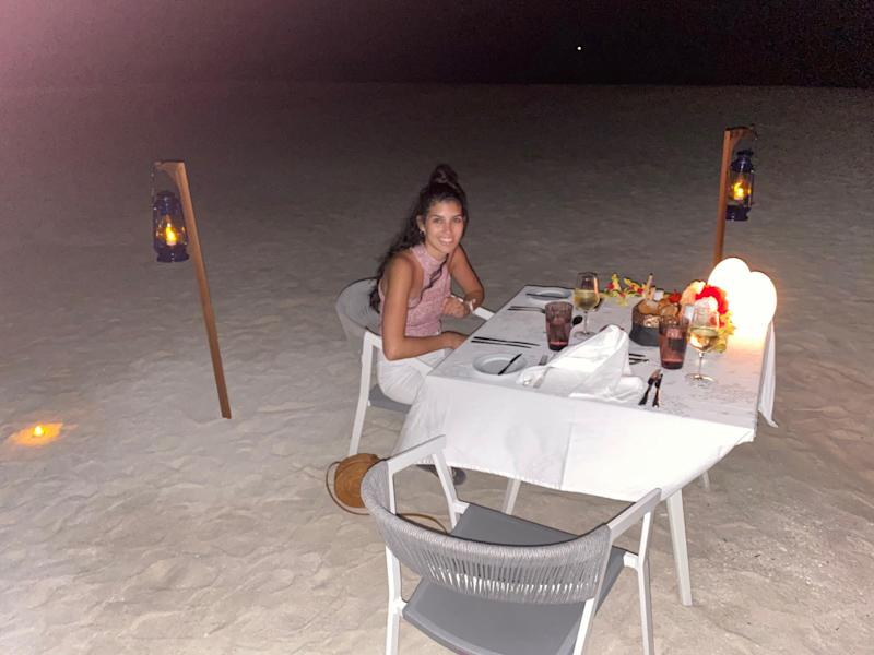 Eventually, Olivia De Freitas and her husband, Raul, were the only guests left at the luxury resort in the Maldives (Photo: Courtesy of Raul and Olivia De Freitas).