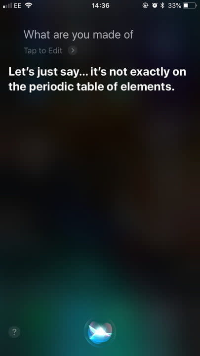 funny questions to ask siri what made of 2