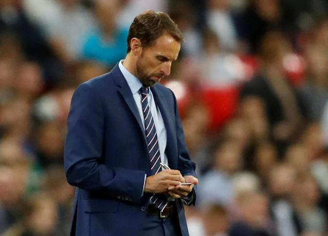 <p>Soccer Football – 2018 World Cup Qualifications – Europe – England vs Slovakia – London, Britain – September 4, 2017 England manager Gareth Southgate Action Images via Reuters/Carl Recine </p>