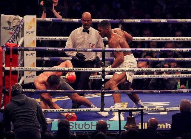 Joshua, right, rose to the occasion against Wladimir Klitschko (Peter Byrne/PA)