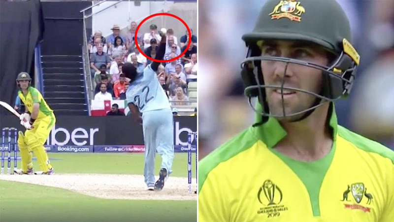 Jofra Archer had Glenn Maxwell and the Aussies puzzled with his brilliant 'knuckle' ball. Image: ICC