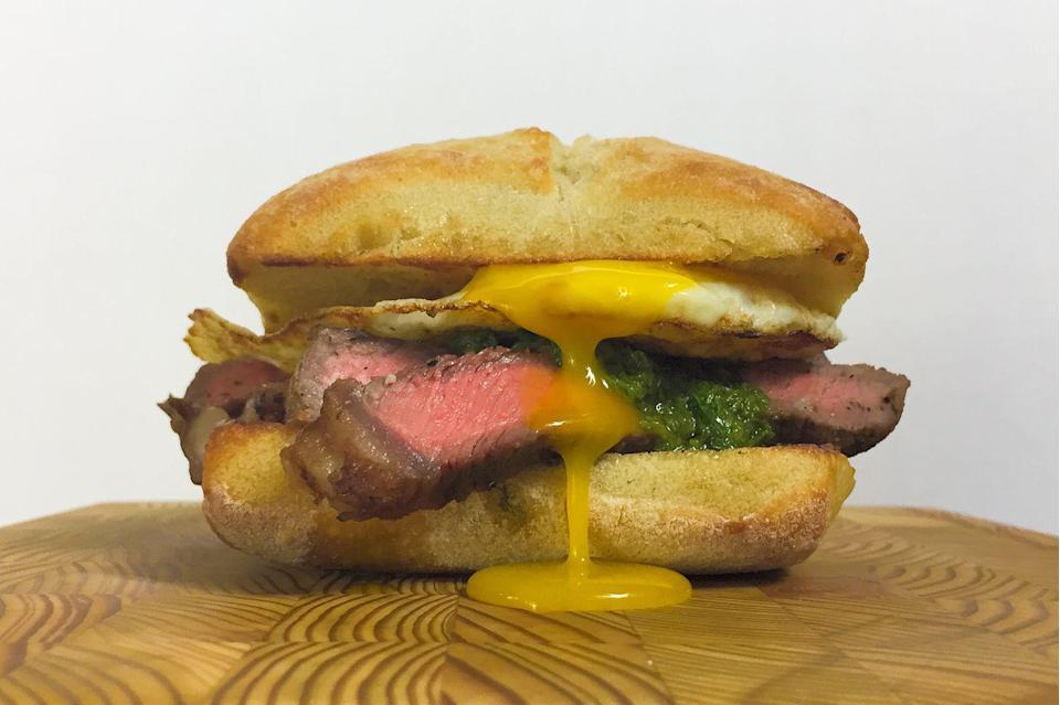 <p>Eat this all-American breakfast in sandwich form.</p><p>Get the recipe from <span>Delish</span>.</p>