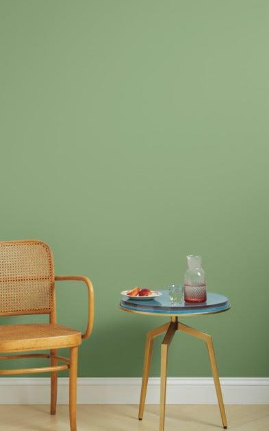 <p>We ordered a few samples of different green shades, but this dusty-green hue from Clare paint was the winner. You can order <span>Avocado Toast Paint Color</span> ($54) in both interior and cabinet finishes, so we used the same shade for an accent wall to tie it all together. </p>