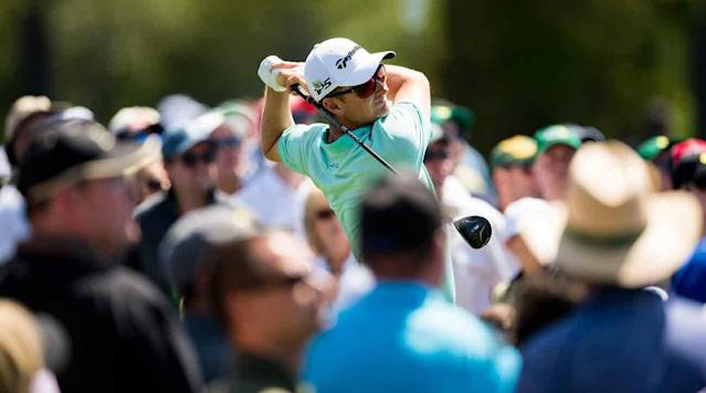 Justin Rose shot a five-under 67 to grab a share of the 54-hole lead at the Masters.