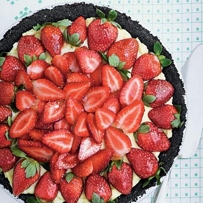 """<p>A dark-chocolate crust and jewel-bright berries brushed with jelly turn this down-home <a href=""""https://www.myrecipes.com/pie-recipes"""" rel=""""nofollow noopener"""" target=""""_blank"""" data-ylk=""""slk:pie"""" class=""""link rapid-noclick-resp"""">pie</a> into a company-worthy fare.</p>"""