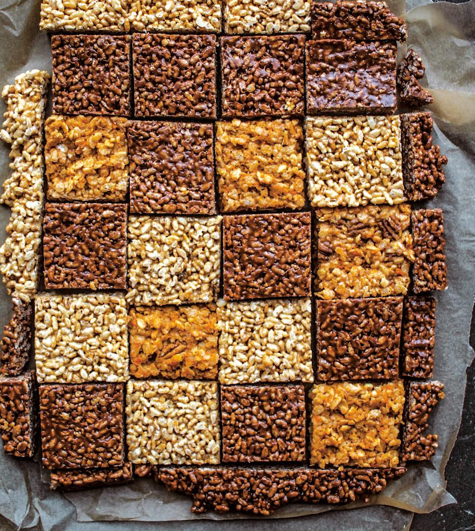 "This Easter treat recipe, from cookbook author <a href=""https://www.epicurious.com/expert-advice/jerelle-guy-black-girl-baking-rice-crispy-treats-recipe-article?mbid=synd_yahoo_rss"" rel=""nofollow noopener"" target=""_blank"" data-ylk=""slk:Jerrelle Guy"" class=""link rapid-noclick-resp"">Jerrelle Guy</a>, has all the flavor of sweet potato casserole with minimal fuss. <a href=""https://www.epicurious.com/recipes/food/views/sweet-potato-rice-crispies?mbid=synd_yahoo_rss"" rel=""nofollow noopener"" target=""_blank"" data-ylk=""slk:See recipe."" class=""link rapid-noclick-resp"">See recipe.</a>"