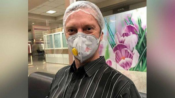 PHOTO: American citizen Michael White, who has been detained by the Iranian government for over 600 days, is seen for the first time after he was granted medical furlough amid the novel coronavirus outbreak, in a photo released by his family. (Courtesy White Family)