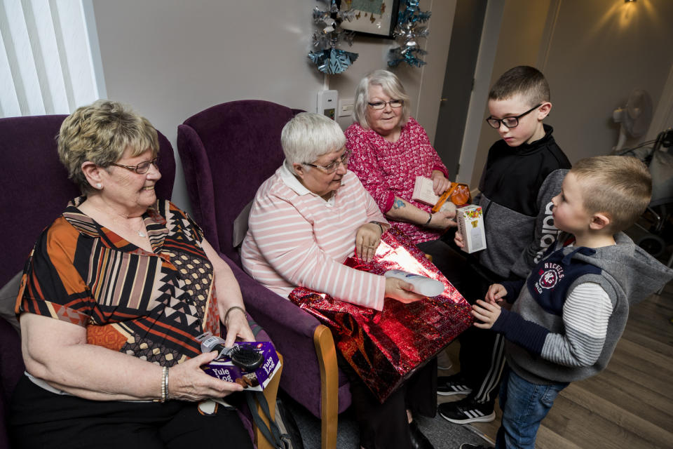 Residents at Choice Housing Association's Elmgrove Manor in east Belfast (Liam McBurney/PA)