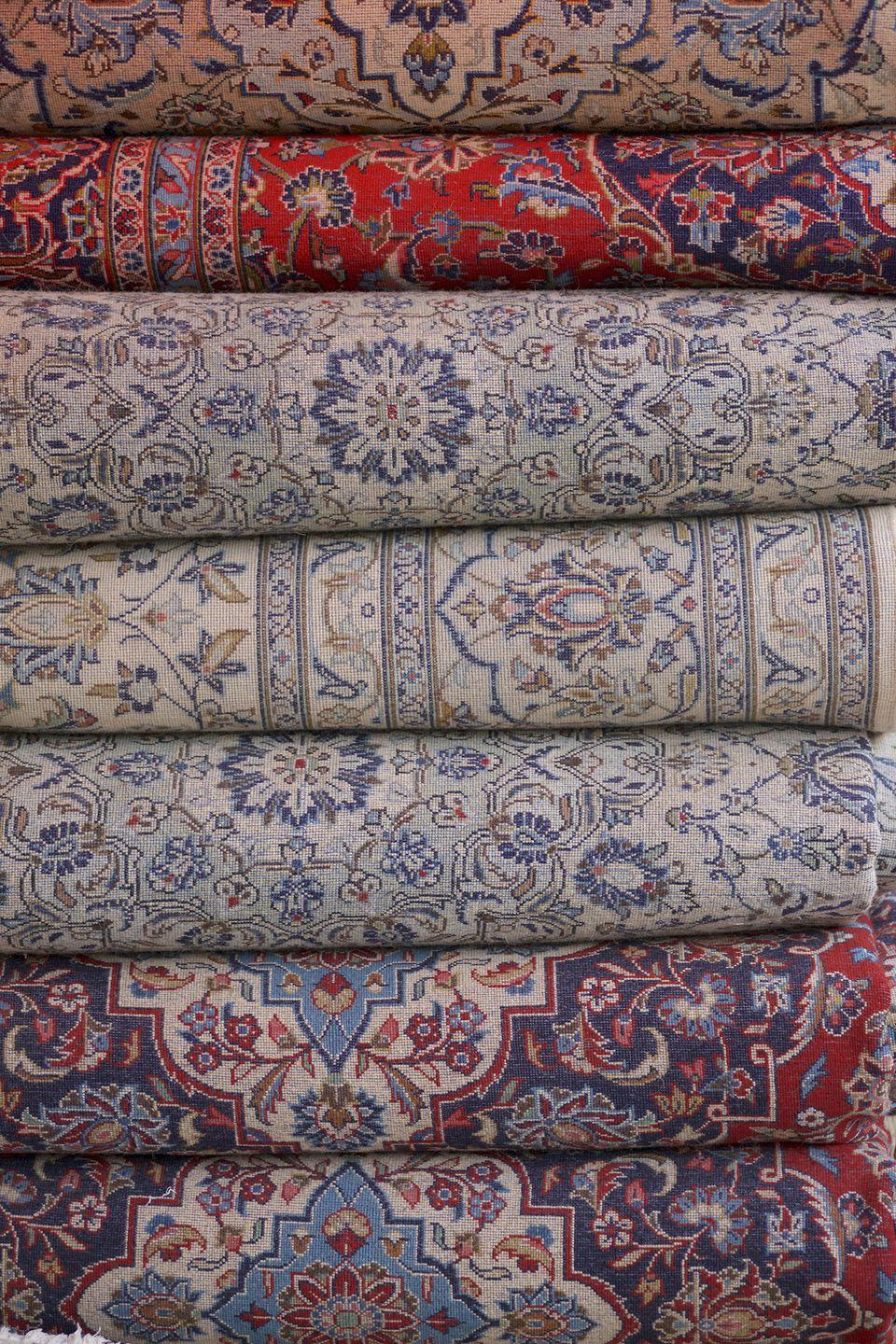 <p>Preowned rugs could contain years of stains, allergens, mold, and mildew. Buy a new one and your allergies will thank you. </p>