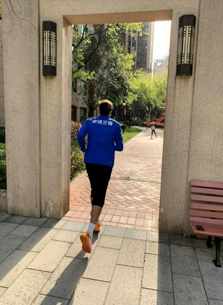 Some of the players are training alone during lockdown in Wuhan