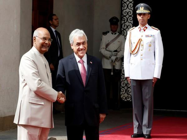 President Ram Nath Kovind and Chilean counterpart Sebastian Pinera