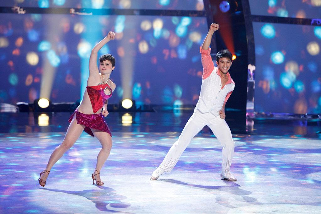 "Melanie Moore and Marko Germar perform a Disco routine to ""I Feel Love,"" choreographed by Doriana Sanchez on ""So You Think You Can Dance."""