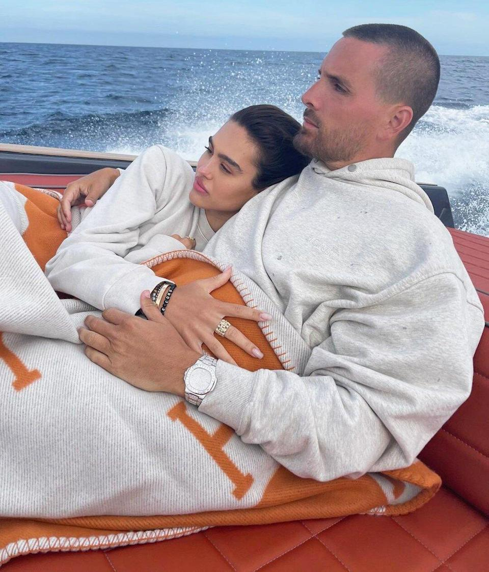 Scott Disick and Amelia Hamlin Cuddle Up for Hamptons Boat Outing with His Kids