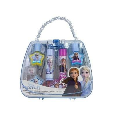 <p>The <span>Lip Smacker Frozen Tote Bag</span> ($12) is an eight-piece set that comes with two lip balms, two nail polishes, three accessories, and a tote. In other words: everything a superfan would need.</p>