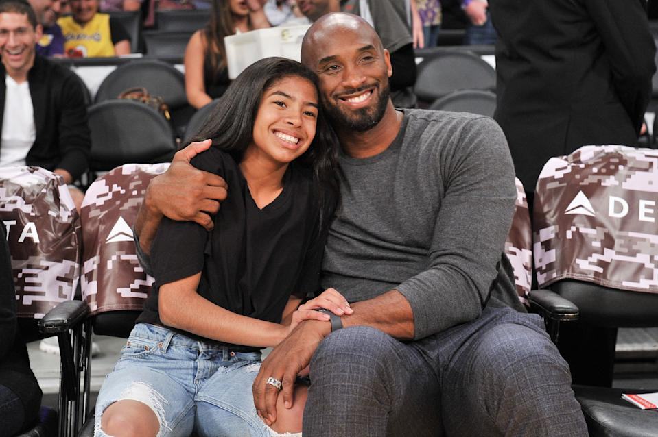 Kobe Bryant and his daughter Gianna, in November. (Photo: Allen Berezovsky/Getty Images)