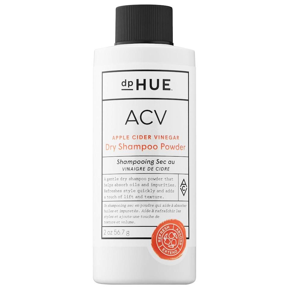 """<p>If you like your dry shampoo in a powder format, this <a href=""""https://www.popsugar.com/buy/dpHue-Apple-Cider-Vinegar-Dry-Shampoo-Powder-575442?p_name=dpHue%20Apple%20Cider%20Vinegar%20Dry%20Shampoo%20Powder&retailer=sephora.com&pid=575442&price=24&evar1=bella%3Aus&evar9=47486817&evar98=https%3A%2F%2Fwww.popsugar.com%2Fbeauty%2Fphoto-gallery%2F47486817%2Fimage%2F47486842%2FdpHue-Apple-Cider-Vinegar-Dry-Shampoo-Powder&prop13=api&pdata=1"""" class=""""link rapid-noclick-resp"""" rel=""""nofollow noopener"""" target=""""_blank"""" data-ylk=""""slk:dpHue Apple Cider Vinegar Dry Shampoo Powder"""">dpHue Apple Cider Vinegar Dry Shampoo Powder</a> ($24) absorbs impurities and adds volume with a shake of the bottle, with ACV to fight oiliness at the same time.</p>"""