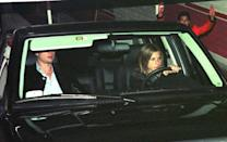 <p>Brad Pitt and Jennifer Aniston leave The Barfly nightclub where he threw a big birthday party for her on February 6, 1999, in Los Angeles. </p>