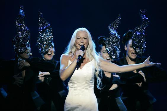 Malena Ernman of Sweden, performs during the final of the Eurovision Song Contest on May 16, 2009 in Moscow, Russia (Getty Images)