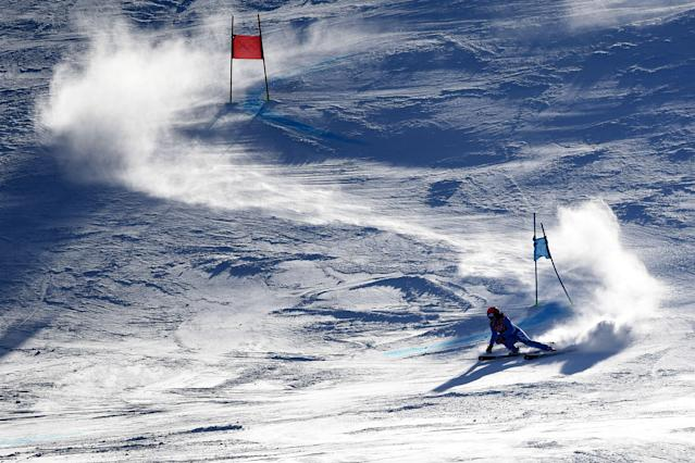 <p>Italy's Federica Brignone competes in the Women's Giant Slalom at the Yongpyong Alpine Centre during the Pyeongchang 2018 Winter Olympic Games in Pyeongchang on February 15, 2018. / AFP PHOTO / Martin BERNETTI </p>