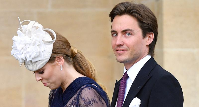 Princess Beatrice and boyfriend Edoardo Mapelli Mozzi at the wedding of Lady Gabriella Windsor's wedding in Windsor in May 2019 [Photo: Getty]