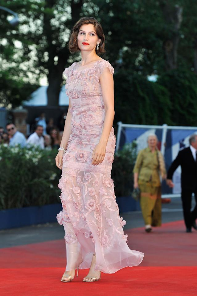 """VENICE, ITALY - SEPTEMBER 08:  Laetitia Casta attends the Award Ceremony And """"L'Homme Qui Rit"""" Premiere during The 69th Venice Film Festival at the Palazzo del Cinema on September 8, 2012 in Venice, Italy.  (Photo by Gareth Cattermole/Getty Images)"""