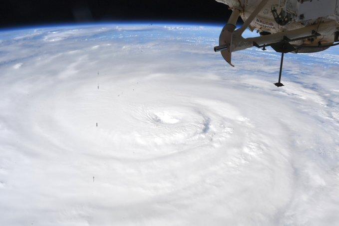 NASA astronaut Chris Cassidy took this photograph of Typhoon Haishen from aboard the International Space Station. The typhoon has led to seven million people being ordered to evacuate and, after hitting Japan it reached the Korean peninsula.