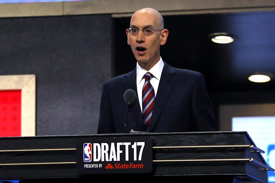 Adam Silver and the NBA want players and their agents to give teams more information in the pre-draft process. (Getty)