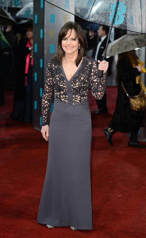 Sally Field attends the EE British Academy Film Awards at The Royal Opera House on February 10, 2013 in London, England.  (Photo by Ian Gavan/Getty Images)