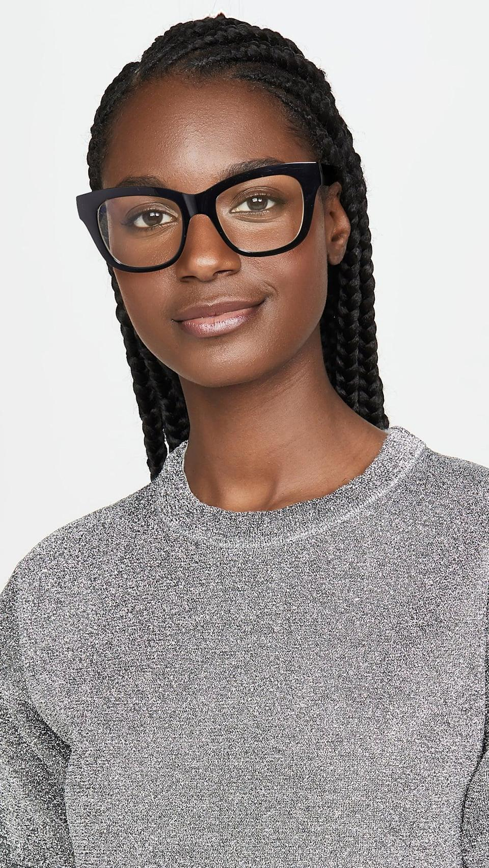 <p>These <span>The Book Club The Hate Relax Me Blue Light Blocking Glasses</span> ($50) are a useful gift.</p>