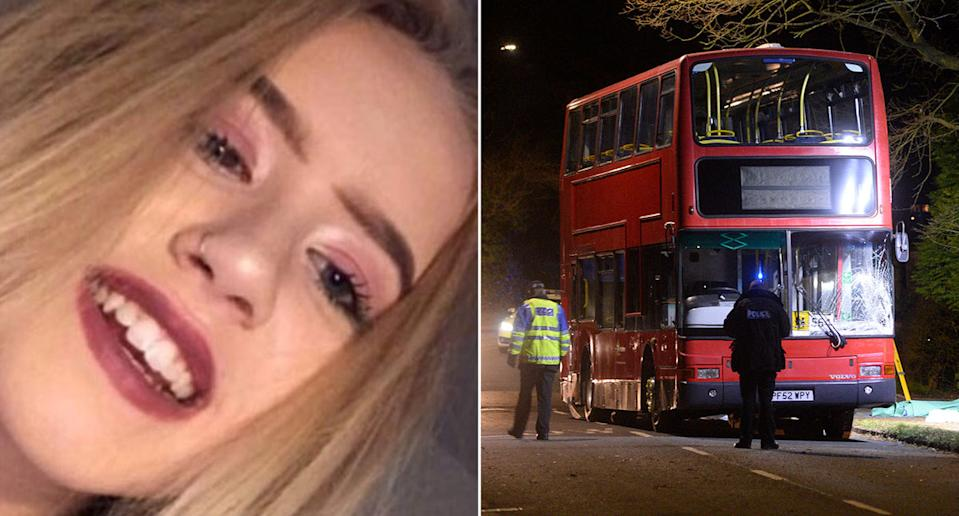 Sian Ellis, 15, died at the scene after being hit by the bus (Picture: BPM)