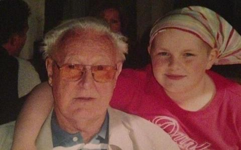 Ellen, aged nine, with her Grandad, John