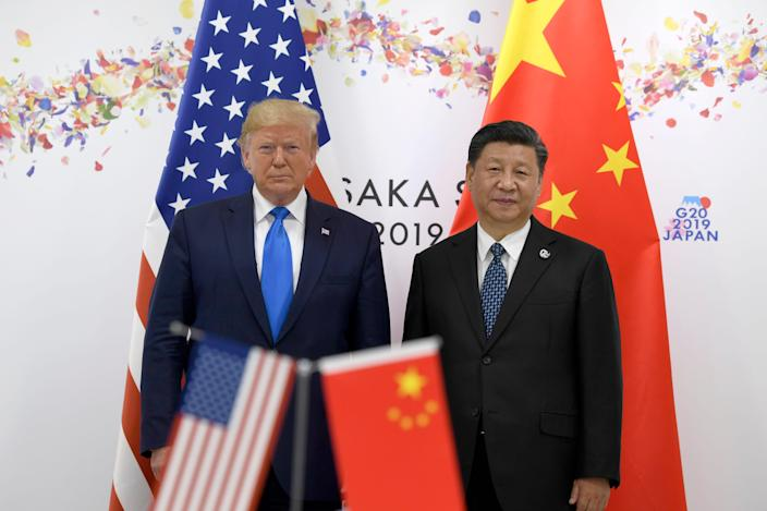 President Donald Trump meets with Chinese President Xi Jinping on the sidelines of the G-20 summit in Osaka, Japan, on June 29, 2019.