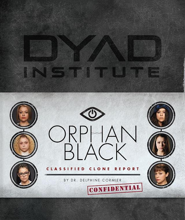 """<p>Here it is, the official guide to all things <a href=""""https://www.yahoo.com/tv/tagged/orphan-black"""" data-ylk=""""slk:Orphan Black"""" class=""""link rapid-noclick-resp""""><em>Orphan Black</em></a>, information and photo-packed, in a highly collectible package, making it the perfect consolation for the series finale in August.<br><br>(HarperCollins, available Aug. 15) </p>"""