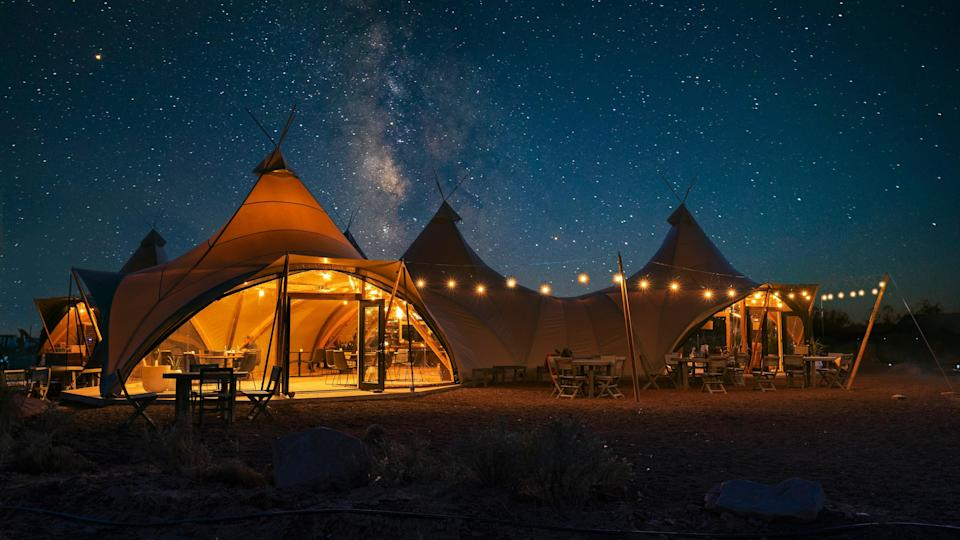 Crystal Sky Camp is one of the latest properties from outdoor outfitter Under Canvas.