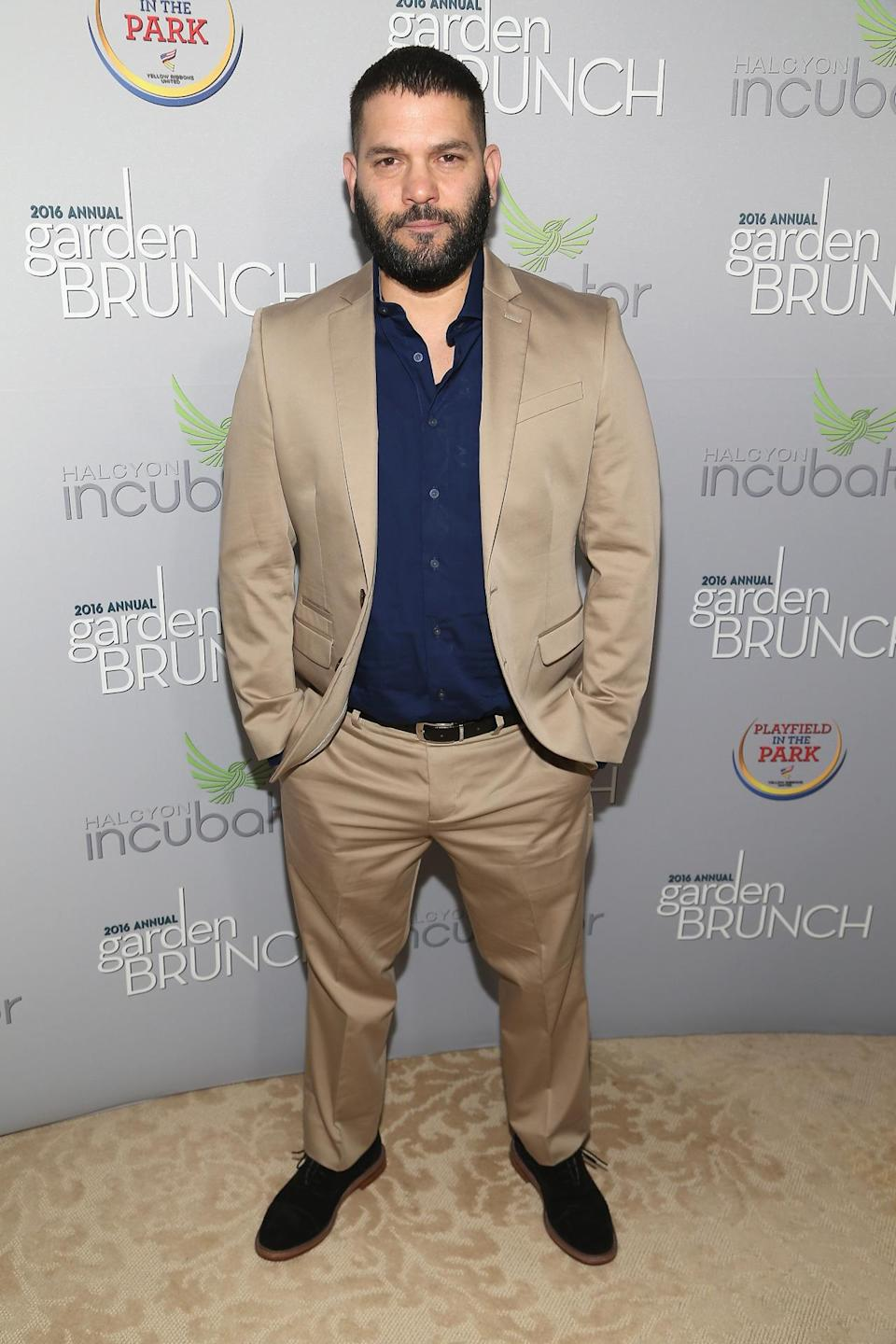 <p>Actor Guillermo Díaz attends the Garden Brunch prior to the 102nd White House Correspondents' Dinner, April 30. <i>(Photo: Paul Morigi/WireImage)</i></p>