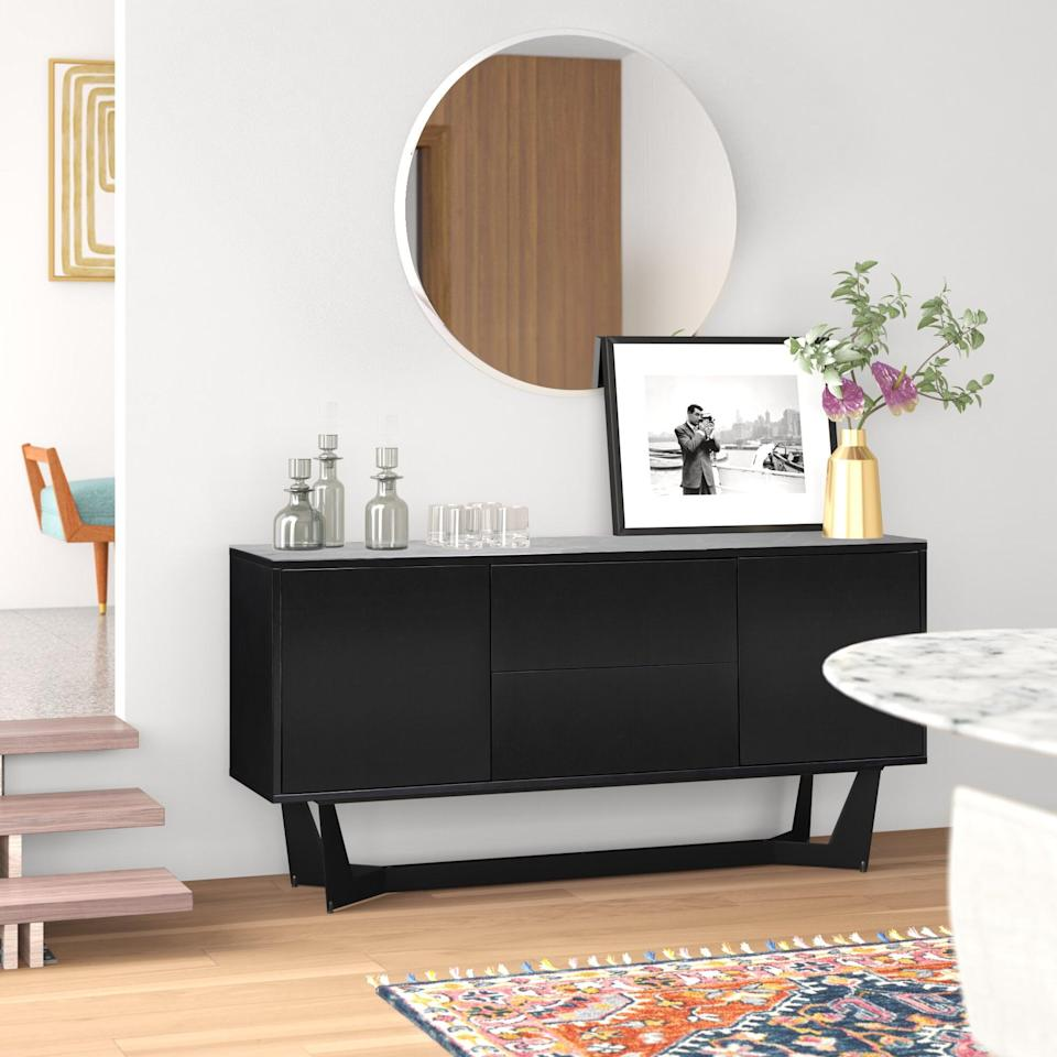 """<p>Put this chic <span>Melrose 63"""" Wide 2 Drawer Sideboard</span> ($1,300, originally $1,827) in your entryway or living room.</p>"""