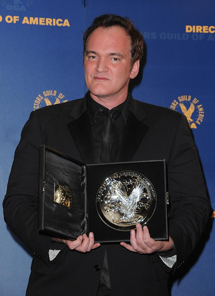 "<a href=""http://movies.yahoo.com/movie/contributor/1800021942"">Quentin Tarantino</a> at the 62nd Annual Directors Guild of America Awards in Century City, California on January 30, 2010."