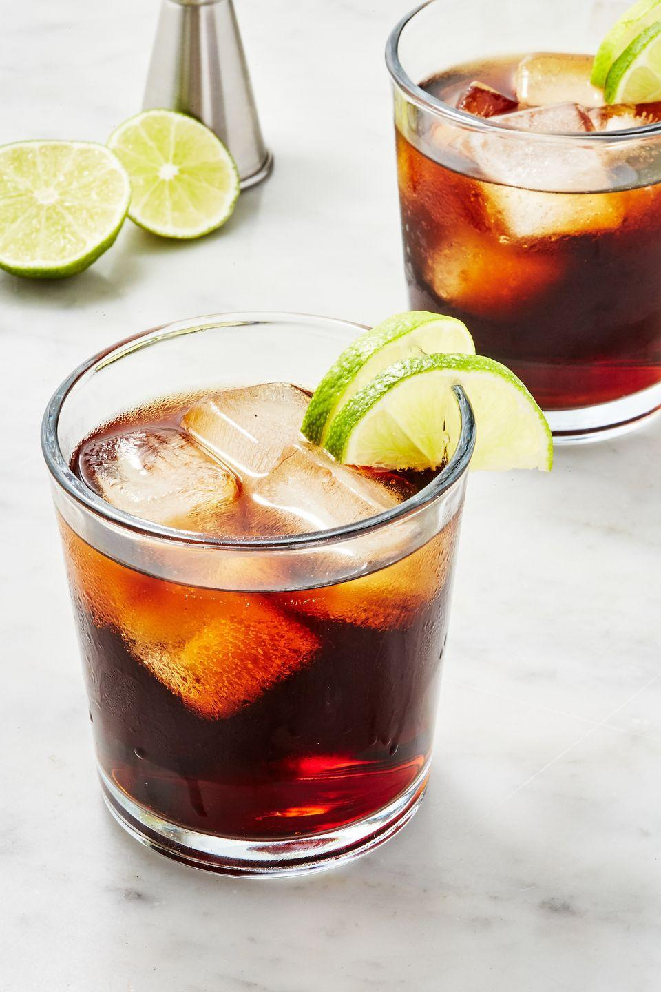 """<p>As the name suggests, this drink couldn't be simpler.</p><p>Get the recipe from <a href=""""https://www.delish.com/cooking/recipe-ideas/a28903015/rum-and-coke-recipe/"""" rel=""""nofollow noopener"""" target=""""_blank"""" data-ylk=""""slk:Delish"""" class=""""link rapid-noclick-resp"""">Delish</a>.</p>"""