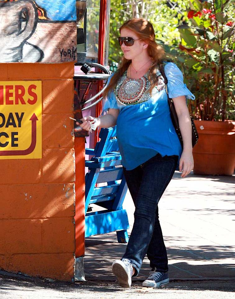 "A very pregnant Isla Fisher keeps things comfy. MWD/<a href=""http://www.x17online.com"" target=""new"">X17 Online</a> - September 25, 2007"